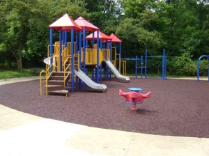 small rubber playground flooring