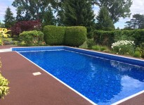 rubber pool deck