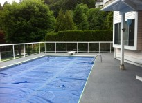 recycled rubber pool deck
