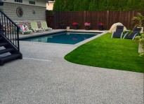 pool deck resurfacing with rubber flooring in Vancouver burnaby coquitlam and surrey