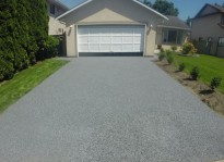 driveway resurfacing with rubber