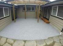 patio paver matches the house and stone design in Vancouver,bc