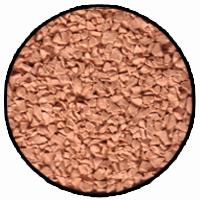 beige rubber mulch