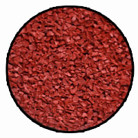 rouge red rubber mulch