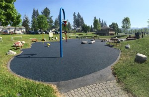 rubber flooring on playground flooring in Burnaby